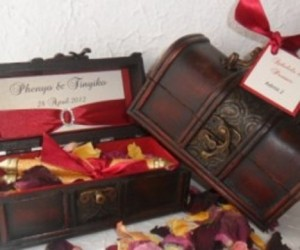 African Traditional invitations African Wooden box invites - R69 each