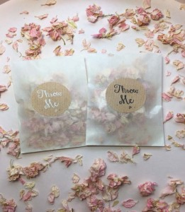 21 - Dried rose confetti in wax envelope R28
