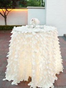 Leaf petal tablecloths – 3.2m round